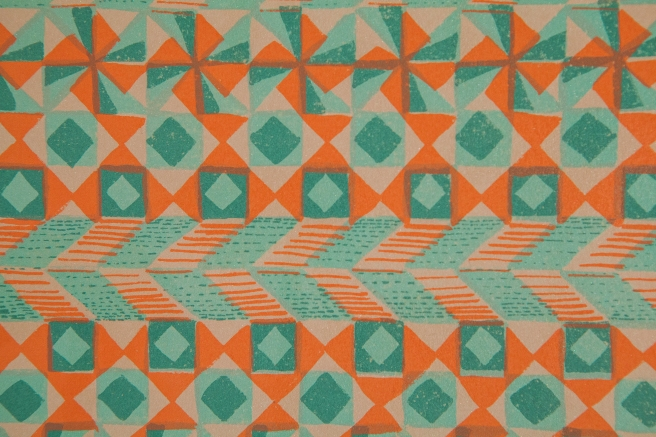 Patterns for Relaxation and Leisure, screenprint on rag paper, 2015