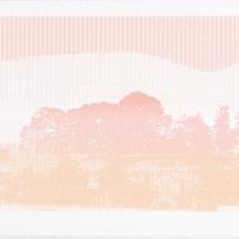 "ASCII Parclo #1, screenprint on rag paper, 2014, 11""x15"""