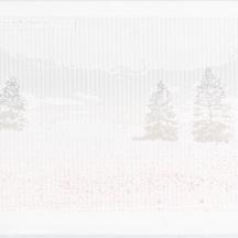 "ASCII Parclo #2, screenprint on rag paper, 2014, 11""x15"""