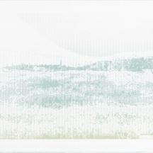 "ASCII Parclo #3, screenprint on rag paper, 2014, 11""x15"""