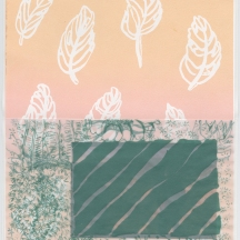 Channel Surfing, screenprint on rag paper and vellum, 2014